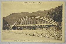 """CPA """" Plan de Var - Pont sur la Vésubie et Pont du Chemin de Fer"""