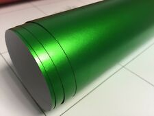1520mm x 700mm bulle d'air libre matt matte chrome satiné vert vinyle film voiture wrap