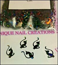 Holographic Black Phat CAT Spangle ~ Nail Art/Crafts~ USA