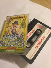 MEGA BUCKS MEGABUCKS SINCLAIR ZX SPECTRUM 48K CASSETTE TAPE GAME By FIREBIRD