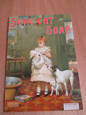 "COLOUR REPRO POSTCARD, "" SUNLIGHT SOAP "" THE PUPPY LOVE SERIES,"