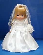 Aurora Disney Precious Moments Bride White Wedding Dress Doll Signed 5098