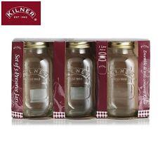 Kilner Preserve Jars With Labels 1.0L Set Of 3 Storage Solution Kitchen New