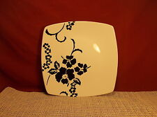 """Coventry PTS Dinnerware Babesques Black Pattern Dinner Plate 10"""""""