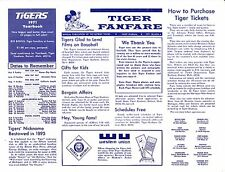 "1971 DETROIT TIGERS ""TIGER FANFARE"" BASEBALL NEWSLETTER - DATED 1971 SEASON A"