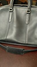 """Vintage Navy Leather """"Brancort"""" coach Domed satchel bag Double 16""""x5""""x11"""""""