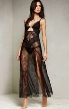$118 Victorias Secret Limited Edition Very Sexy Fishnet Lace Cut-Out Long Gown L