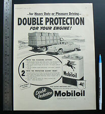 1956 vintage ad MOBILOIL advertisement advertising car picture of Mobil Oil tin