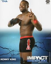 "KENNY KING TNA IMPACT WRESTLING PROMO PHOTO 8x10"" wwe P-233"