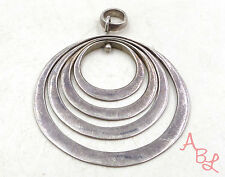 Sterling Silver Vintage 925 Flat Multi Circle Dangle Pendant (8.7g) - 546014