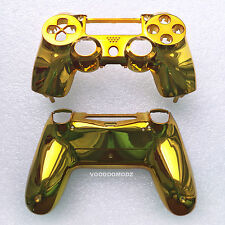 CUSTOM GOLD CHROME PLAYSTATION 4 CONTROLLER HOUSING SHELL -PS4 MOD KIT