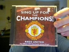 SING UP FOR THE CHAMPIONS CD SINGLE MAN UTD REDS UTD FREE UK POSTAGE!