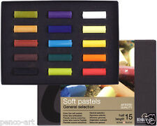 Pastel set of 15 half length Rembrandt coloured artists soft chalk pastels