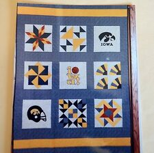 University of Iowa Hawkeye UI  IA Wall Hanging Lap Quilt Sewing Pattern Crawford