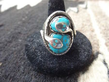 Mens Sz 11 Sterling Silver Turquoise Effy C Ring Zuni