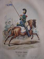 Gravure CHEVAU-LEGERS français Compagnie d'Elite 1812 à 1815  Napoléon Bonaparte
