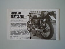 advertising Pubblicità 1975 ROMANO BERTOLANI e MOTO GUZZI 250 TS