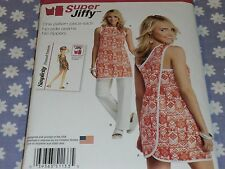 SIMPLICITY 1133 MISSES JIFFY WRAP AROUND COVER-UP-TUNIC-PANTS PATTERN-UNCUT-6-18