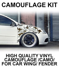 Camouflage Camo Wing Fender Stickers JDM Wrap Vinyl for Drift Modified Car VW