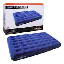 DOUBLE CAMPING AIR BED INFLATABLE FLOCKED AIRBED MATTRESS PORTABLE GUEST BLOW UP