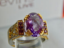 MICHAEL VALITUTTI GEMS EN VOGUE NH STERLING LILAC PINK AMETHYST RING SIZE 8