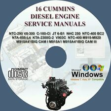 16 CUMMINS DIESEL ENGINE SERVICE REPAIR MANUAL ON CD