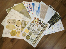 X10 A4 CRAFT BACKING SHEETS CARDMAKING PAPER SEASIDE SHELLS PEBBLES SEA SAND