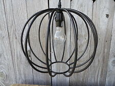 New PENDANT LIGHT Black Metal Sphere Globe Hanging Ceiling Lamp Fixture