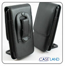 A1 - BLACK LEATHER BELT CLIP CASE COVER HOLSTER FOR TELSTRA FRONTIER (ZTE) T81