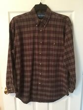 Northeast Outfitters Men's Size Large Brown Plaid Button Down Shirt Long Sleeves