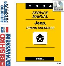 1994 Jeep Grand Cherokee Shop Service Repair Manual CD Engine Drivetrain Wiring