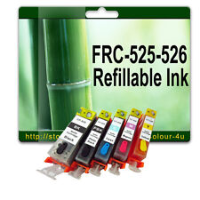 Set Refillable Cartridges for Canon Pixma PGI525 ip4850 ip4950 MG5250 MG5350
