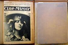Ciné-Miroir reliure éditeur tête de collection 1922 à 1924 n° 1 à 41