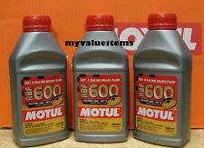 3 Motul RBF 600 Factory Line DOT 4 RACING BRAKE FLUID 100% Synthetic 500 ml Each