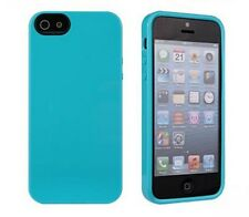 NEW Belkin Grip Neon Glo Case for iPhone 5, 5S, SE Teal Blue New