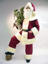 Weihnachtsmann aus Waschsamt mit Schäfchenplüsch Jacke | Hose | Mütze | Gürtel