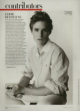 Eddie Redmayne 3pg VOGUE magazine feature, clippings