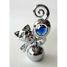 Crystocraft CAT on Ball Ornament with Strass Swarovski Crystal Elements