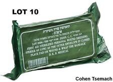 LOT OF 10 dressingTrauma Bandage Field Emergency IFAK Israeli Army IDF
