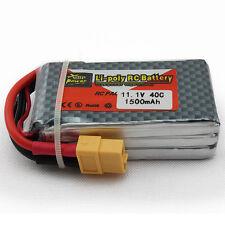 ZOP Power 11.1V 1500mAh Lipo Batterie 3S 40C pour RC Hélicoptère Camion Voiture