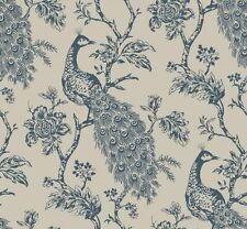 "12""/31cm Wallpaper SAMPLE Carolina Peacock Sculptured Wallpaper"