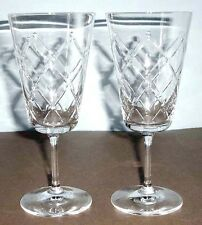 Martha Stewart Wedgwood Trellis (SET/2) Iced Beverage Glasses Crystal New