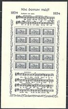 Czechoslovakia 1934 Mi 330x+331x Mucis Sheets  UNG(as issued)  VF