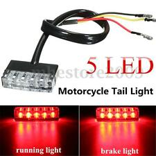 12V Motorcycle ATV Bike Mini 5 LED Rear Tail Running Stop Brake Light Lamp Red