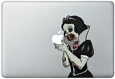 Zombie Snow White Holding Apple MacBook Pro / Air 13 Inch Vinyl Decal Sticker