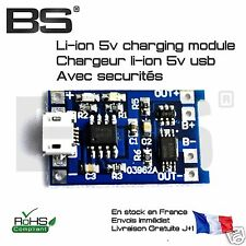 Module charge recharge lithium ion USB 18650 protection 18650 3.7V Arduino ESP32