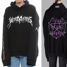 New Vetements Total Fking Darkness Print Oversized Hoodie Hooded Sweatshirts