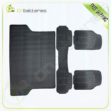 Car Floor Mats For All Weather Rubber For Car SUV Van Full Set 4 Piece