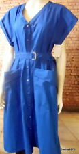 Gerard Darel shirt dress royal blue popper front  Paris designer 42 NWT rrp £215