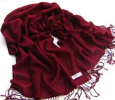 Women Pashmina Cashmere Silk Solid Shawl Wrap Unisex Long Range Warm Scarf